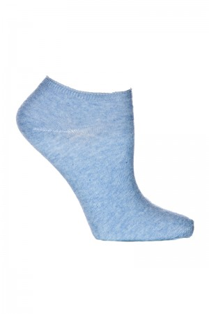 Ozone Ankle Zone Heather Denim Sock