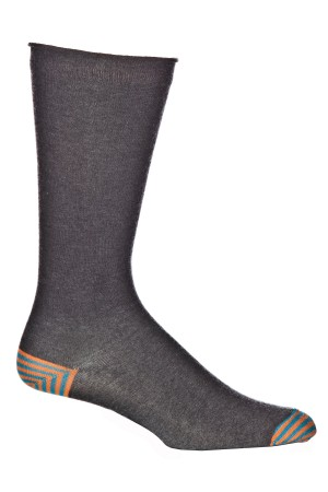 Ozone Men's Basic Heather Charcoal Sock
