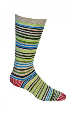Ozone Men's Green Scandinavian Stripe