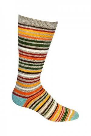 Ozone Men's Orange Scandinavian Stripe
