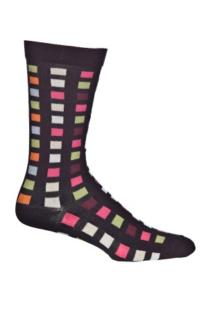 Ozone Square Flair Black Sock