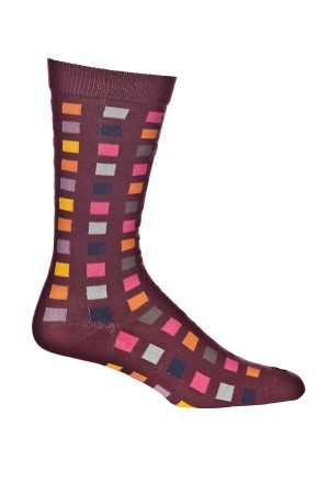 Ozone Square Flair Bordeaux Sock