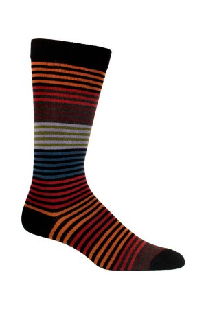 Ozone Stripy Men's Black Sock
