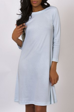 "P.Jamas Butterknit 40"" Long Sleeve Gown"