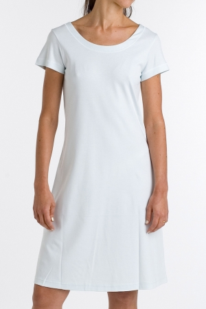 P.Jamas Butterknit Cap Sleeved Gown, Short