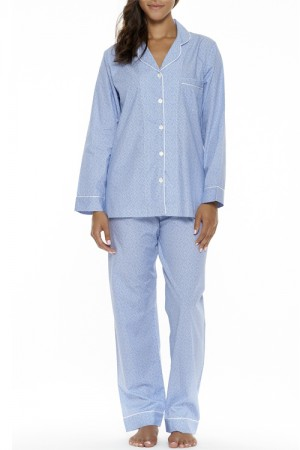 P.Jamas Wovens Blue Safari Pajama