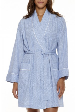 P.Jamas Wovens Blue Safari Robe