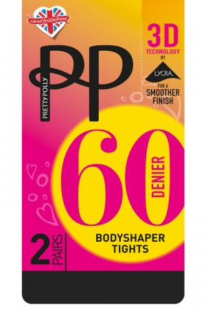 Pretty Polly 60 Denier 3D Bodyshaper Opaque Tights
