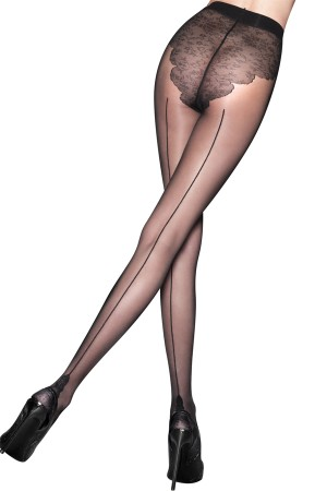 Pretty Polly Backseam Tights with Detailed Pant