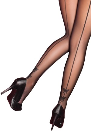 Pretty Polly Curves Bow Backseam Tights