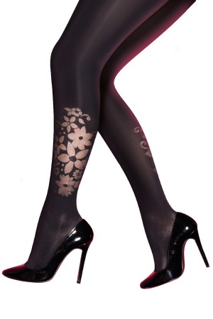 Pretty Polly Curves Floral Burnout Tights