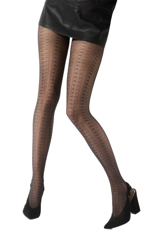 Pretty Polly Fashion Delicate Lace Pattern Tight