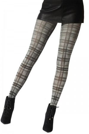 Pretty Polly Fashion Printed Tartan Tight