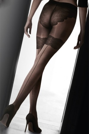 Pretty Polly Flirty Backseam Tight with Body Detail
