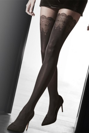 Pretty Polly Flirty Lace Mock Hold Up Tights