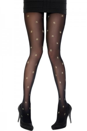 Pretty Polly Holiday Christmas Star Tights