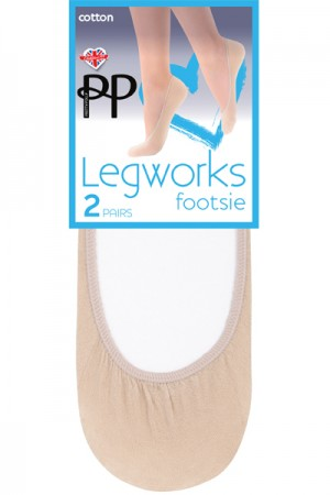 Pretty Polly Legworks Cotton Footsie