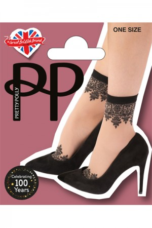 Pretty Polly Patterned Top and Toe Anklets
