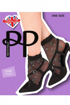 Pretty Polly Sheer Floral Anklets