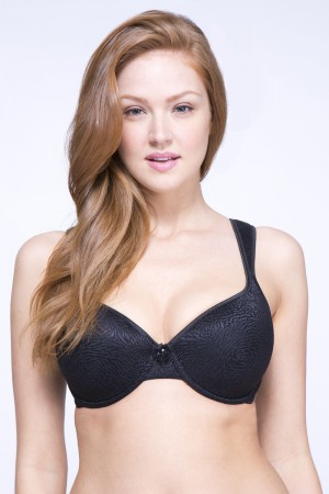 QT Intimates Rose Jacquard Molded Underwired Bra