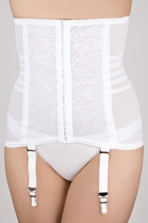 Rago Firm Shaping Girdle with Garters