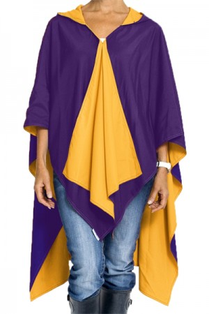 Rainraps Hooded Purple and Gold Spiritrap