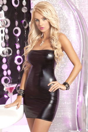 René Rofé Pink Lipstick Hot and Wet Mini Dress