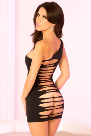 René Rofé Pink Lipstick Seamless Back Cut Out Dress