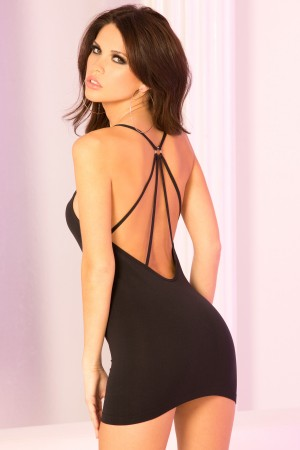 René Rofé Pink Lipstick Seamless Low Back Dress