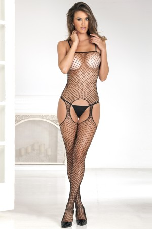 René Rofé Sexy Industrial Net Suspender Bodystocking