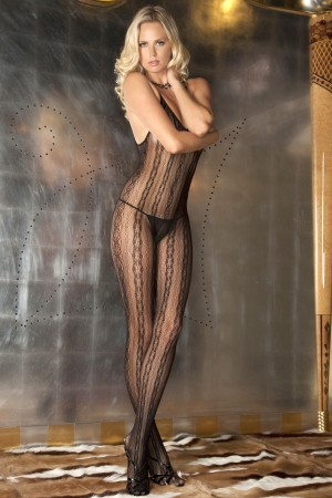 René Rofé Sexy Seductive Lace Bodystocking