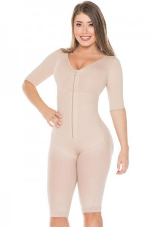 Salome Liposculpture Girdle with Sleeves, Bra and Holes
