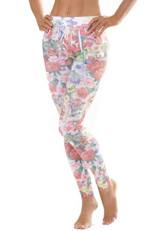 Skinny Tees Floral Bouquet Leggings