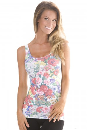 Skinny Tees Floral Bouquet Tank