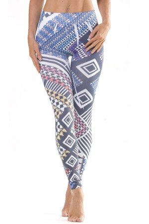 Skinny Tees Geometric Leggings