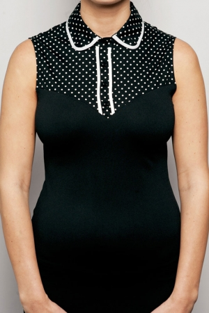 SkinnyShirt Classic Collar Polka Dot with Piping