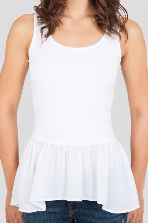 SkinnyShirt Lindsay Ruffle Tank with Zipper