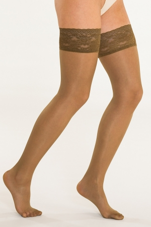 Solidea Marilyn 140 Sheer Thigh-High Stockings - Firm Compression