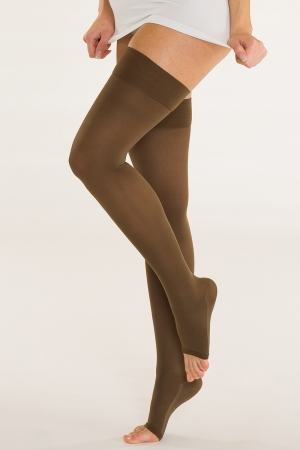 Solidea Marilyn - Open Toe Compression Thigh-Highs (18/21 mmHg)