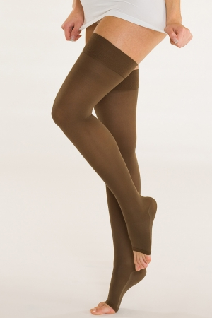 Solidea Marilyn - Open Toe Compression Thigh-Highs (25/32 mmHg)