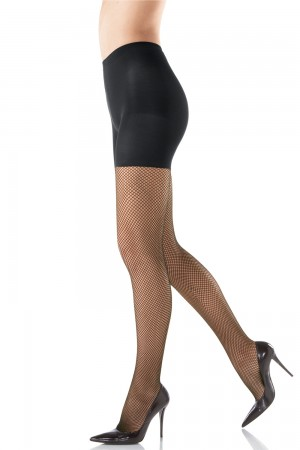 Spanx Control Top Fishnets