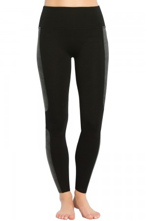 Spanx Faux Leather Panel Ponte Leggings