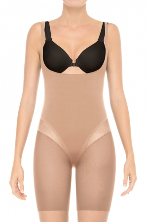 Spanx Haute Contour Sexy-Sleek Open-Bust Mid-Thigh Body