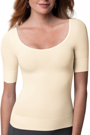 Spanx On Top and In Control Elbow Length Scoop Neck