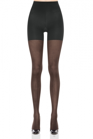 Spanx Patterned Tight-End Tights Illusion Stripe