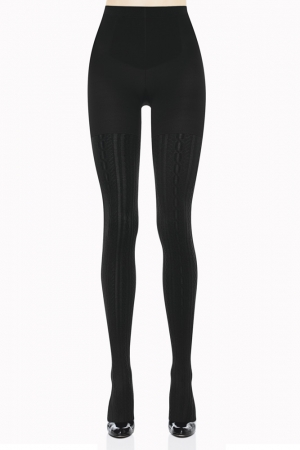 Spanx Uptown Tight-End Tights Cable Knit Sweater