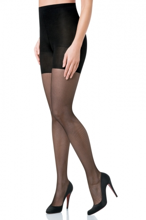 Spanx Uptown Tight-End Tights Micro Fishnets