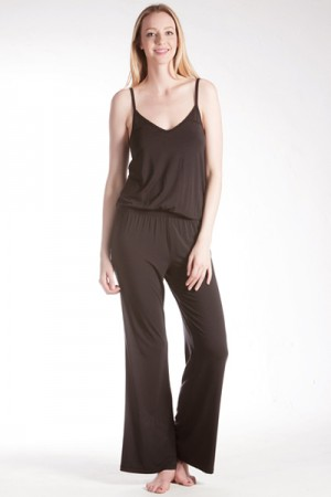 Splendid Long Romper with Tonal Trim