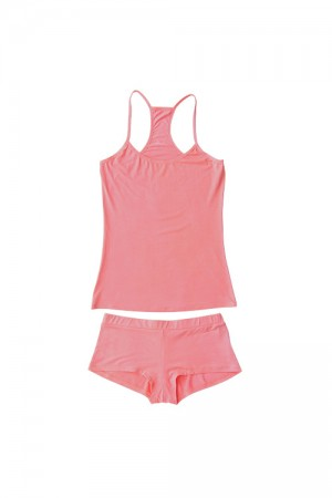 Splendid Wide Spaghetti Cami w/ Boy Short Set