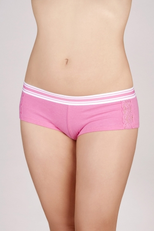 Striped Band Panty with Lace